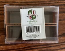 New listing Tradewind Bay Napkin Rings, 6 pc set, Faux Basket Weave, Brown #832133 New