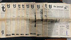 THE JOURNAL RARE Lot of 10 1974 /1975 Comic Book Fanzine ADAMS/WOLVERTON/RUSSELL