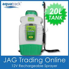 AQUATRACK 20L 12V WEED SPRAYER Rechargeble Battery Backpack Knapsack Garden Pump