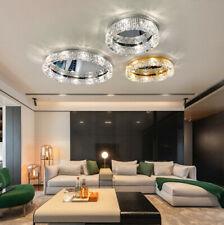 LED Mirro Chrome Lamp Chandelier Living Room Ceiling Pendant Light Crystal Light