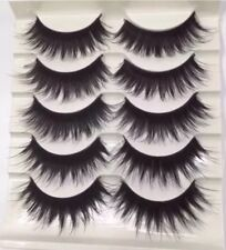 5 Pairs Eyelashes Best UK Tray Thick Long Curly Hairs False Eyelashes