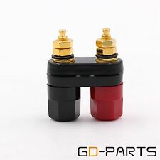 Brass Dual Binding Posts Terminal Female Banana Connector For Hifi Speaker AMP