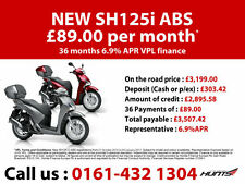 NEW Honda SH125i ABS with Top Box. £3,199 On The Road. IN STOCK NOW