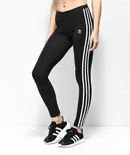 Adidas Black 3 Stripe Leggings Women's Size S NWT