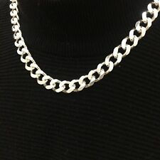 Mens Solid 925 Sterling Silver Tight Curb Neck Chains Necklaces 8mm 94GR 26Inch