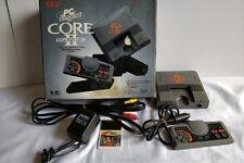 Nec Pc Engine Coregrafx2 Console(TurboGrafx-16),Pa d,Psu,Av cable,Game,Boxed-a913