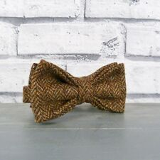 Handmade Yorkshire Tweed Bow Tie - Brown Herringbone
