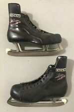 Hockey Skates Vintage Bobby Hull Ccm Black leather Men Size 9 Christmas Gift