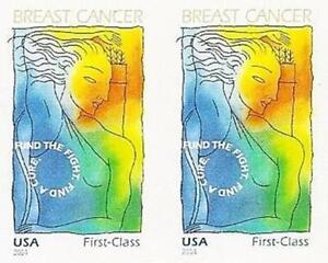 USA 2014 Breast Cancer imperforat/NO DIE CUTS SC#B5a  MNH PAIR =MEDICINE ARCHERY