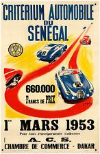Criterium Automobile Sengal 1953  Metal Sign