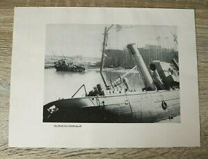 Blatt Bild Dünkirchen Dock der Schifswerft 1940 zerstörte Schiffe  2. WK WWII