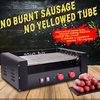 Commercial Electric 18 Hot Dog 7 Roller Grill Cooker Machine 1350Watt