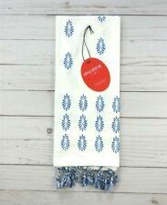 Opal House Kitchen Towel Blue Medallions Fringe