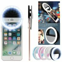 Selfie LED Ring Fill Light Camera Photography For iPhone Android Phone Battery
