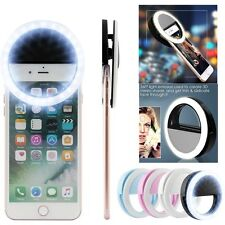 Selfie LED Light Ring Flash Fill Clip Camera For Phone & Tablet iPhone Samsung