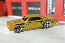Hot Wheels 2015 - '68 Dodge Dart - Gold w/ Flames - Loose - 1:64 - Exclusive