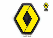 Renault Clio MK2 1998-2006 Front Rear Badge Wrap All Overlay Decals Yellow