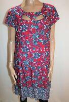 Crossroads Brand Multi Floral Print Cap Sleeve Shift Dress Size 18 BNWT #RD25