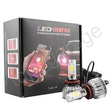 2x RGB H8 H9 H11 LED Headlight Bulbs Demon Eye WIFI APP Control for Car / Truck