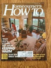 Homeowners How To Magazine Nov - Dec 1980 Keeping Warm Energy Savings