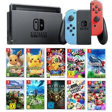 Nintendo Switch Konsole Top Spiele Neon Pokemon Zelda Mario Party NEU Neuware