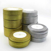 Silk Satin Ribbon 25 yards Wedding Party Festive Decor Craft Gifts Wrapping  rS