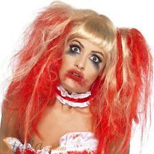 Zombie Rubio gotas de sangre peluca adulto mujer Smiffys disfraz Halloween