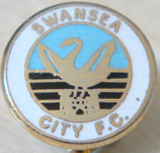 SWANSEA CITY FC Vintage club crest type badge Brooch pin In gilt 17mm Dia