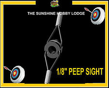 "Peep Sight For Compound Archery Bow 1/8"" Sight With Rubber Aligner UK Supplier"
