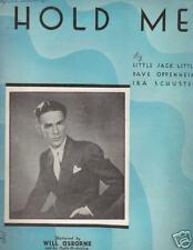 HOLD ME..WILL OSBORNE...SHEET MUSIC...1933..