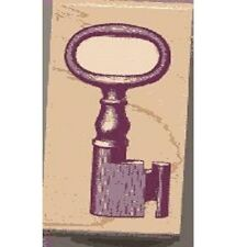Wood Mounted Rubber Stamp by Rubber Stampede Nostalgic Antique Key A2529C