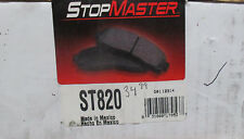 BRAND NEW STOP MASTER ST820 / D820 FRONT BRAKE PADS FITS VEHICLES ON CHART