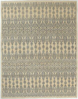 8X10 Hand-Knotted Oushak Carpet Traditional Ivory Fine Wool Area Rug D55042