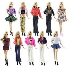 15 Artikel = 5 Fashionistas Kleidung Outfit+10 Paar Schuhe für Barbie Puppe t33