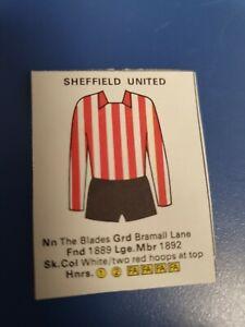 Sheffield United Seafarer Football wallchart Poster Cut-outs