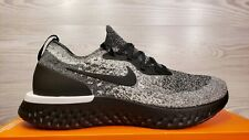 Nike Epic React Flyknit Black White Cookies 'n Cream Running AQ0067-011 Size 12
