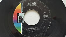 VIKKI CARR - It Must Be Him / That's All 1967 JAZZ POP CHANSON 7""