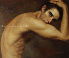 Art prints from original oil painting male nudes portrait young men Giclee 20x24
