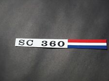 AMC SC 360 Hornet 71 dash glovebox emblem aluminum metal badge Hurst 3M