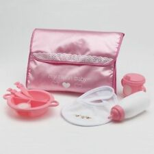 My twinn feeding set for doll with pink pouch fits Baby Alive, Bitty Baby, etc.