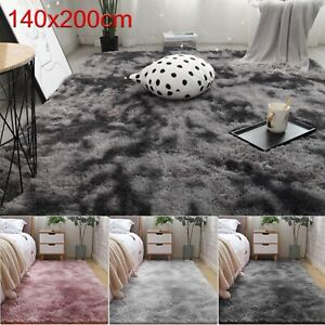 140x200cm Fluffy Rug Large Anti-Slip Super Soft Carpet Mat Floor Living Room