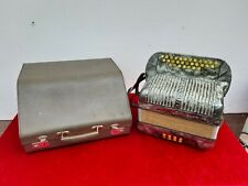 Hohner Club IB Akkordeon Ziehharmonika mit original Koffer antik Vintage