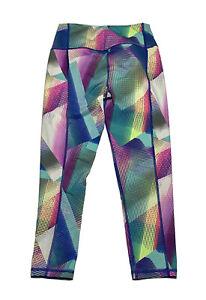 Victorias Secret VSX Crop Leggings Womens Size S Multicolor Graphic Knockout