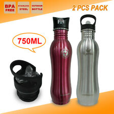 2PCS BPA FREE Stainless Steel Water Bottle Camping Outdoor Sport Training Kettle