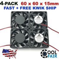 High Speed 12v 60mm 6015 60X15mm DC 2Pin Brushless Cooling Fan Exhaust IDE 4Pcs