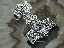 Ketten Anhänger Viking THORS HAMMER Keltischer Knoten WIKINGER Celtic Silber 925