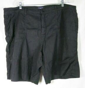 "NYDJ Lift Tuck Technology Black Shorts 9"" Inseam Cotton Blend Stretchy Plus 22W"