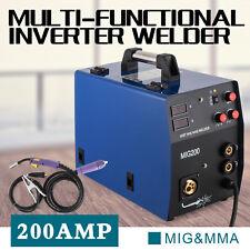 Saldatrice inverter MIG MAG MMA VEVOR 200A saldatura filo continuo elettrodo