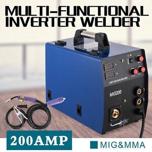 MIG-200 Saldatrice Inverter Mig Mag MMA 200A Saldatura Filo Continuo Elettrodo