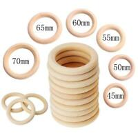 20Pcs Multifunction DIY Teether Rings Wooden Teething Rings for Toddler Toys